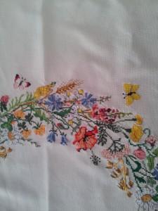 Sommerblumen Tischdecke Detail1