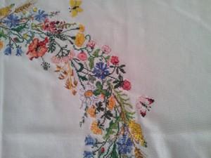 Sommerblumen Tischdecke Detail2