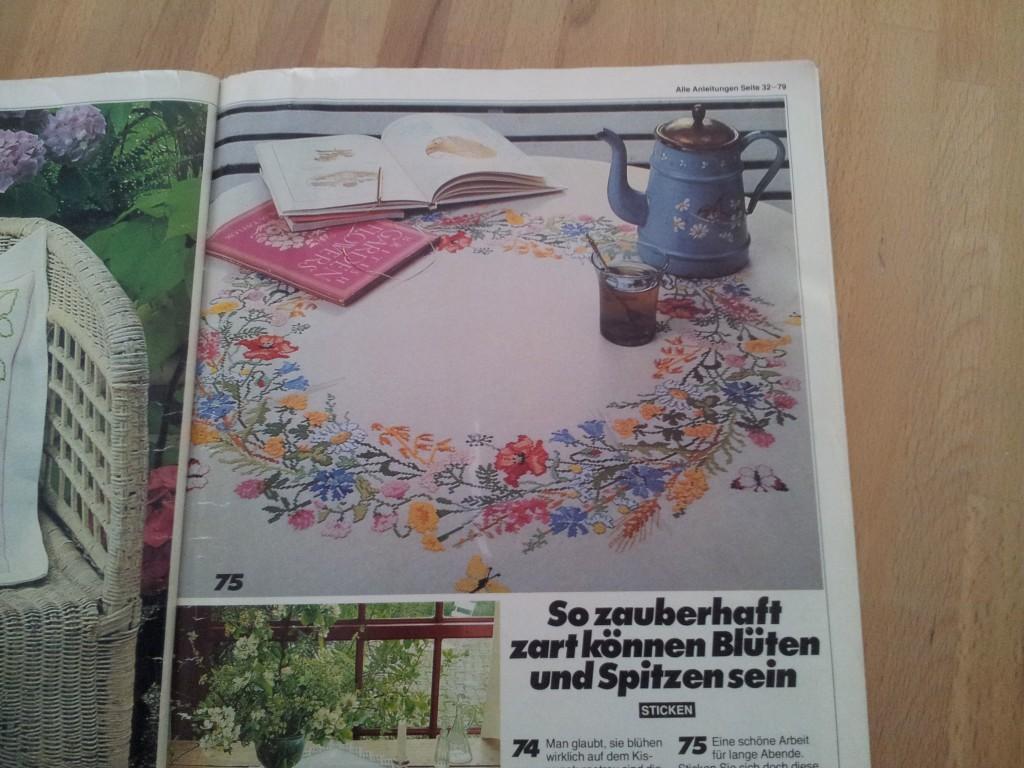 Sommerblumen-Tischdecke-Vorlage