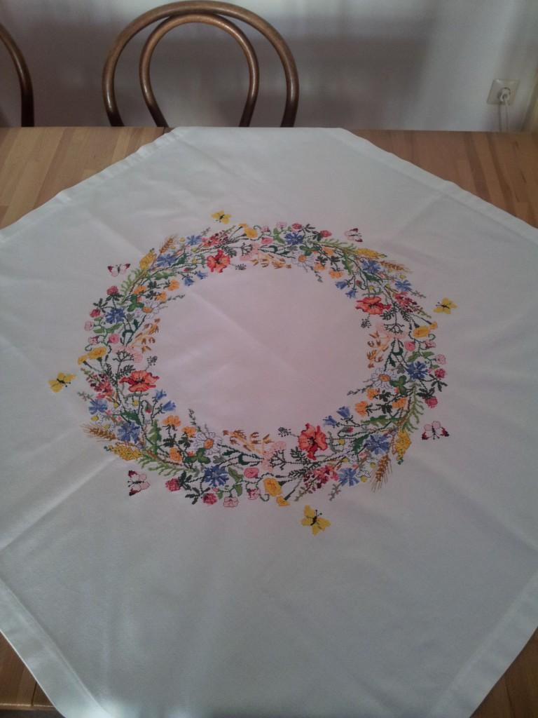 Sommerblumen Tischdecke fertig