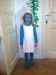 2014: Schlumpfine Kostüm