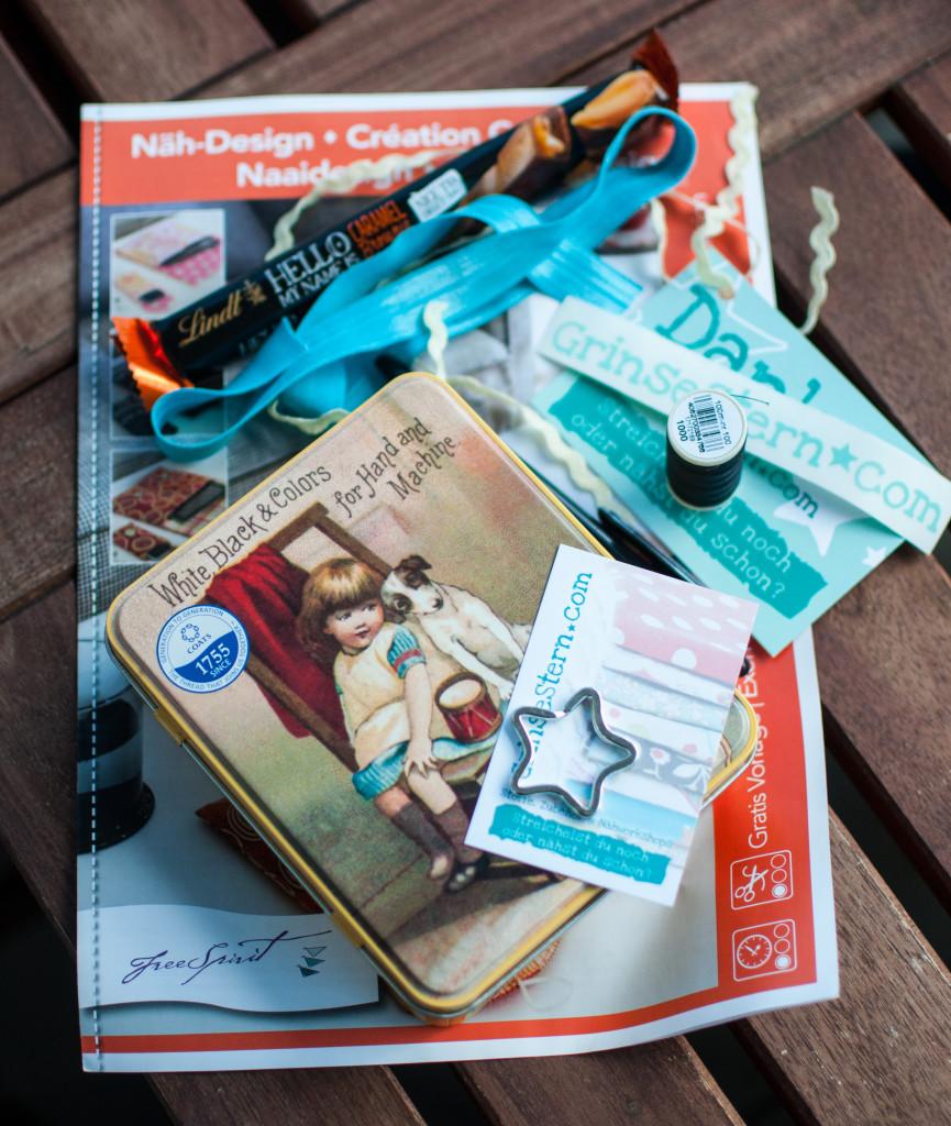 2015-09-19 Goodie Bag von Grinsestern Inhalt