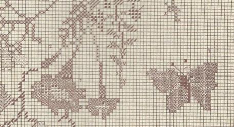 Sommerblumen-Stickdecke-MusterAusschnitt