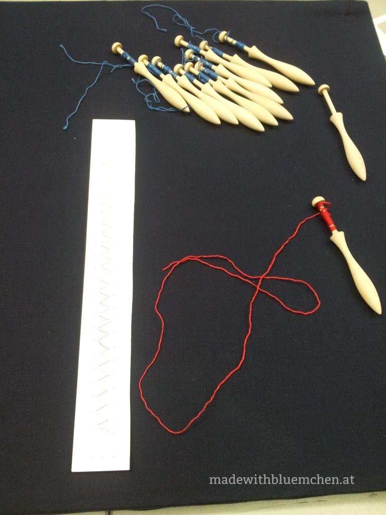 Vorbereitung: Klöppel wickeln